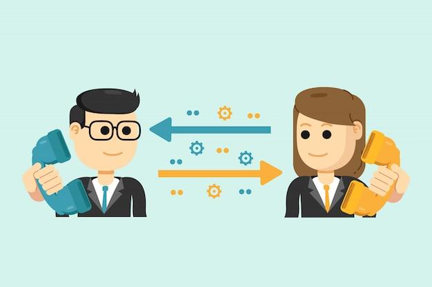 Geschäftsförderung, werbung, business to business