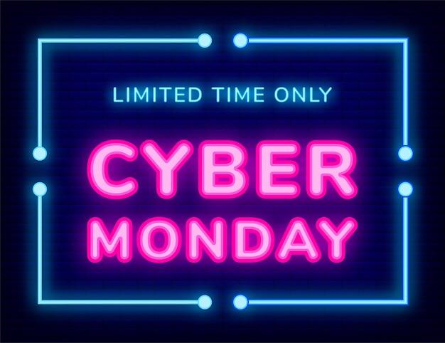 Geschäftsförderungs-cyber-montag-plakat-vektor