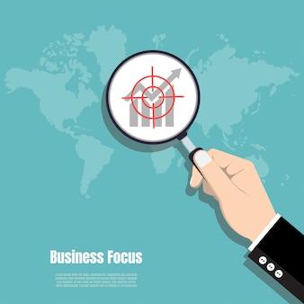 Geschäftsfokus-konzept