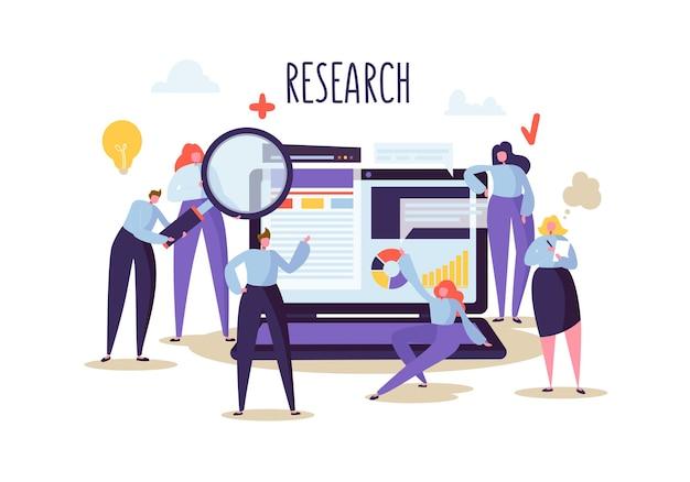 Geschäftsforschungs- und analysekonzept