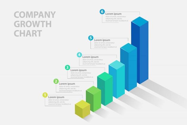 Geschäftsfortschrittsbalken infografiken