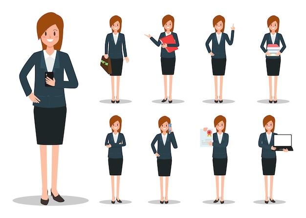 Geschäftsfrau arbeit charakter.