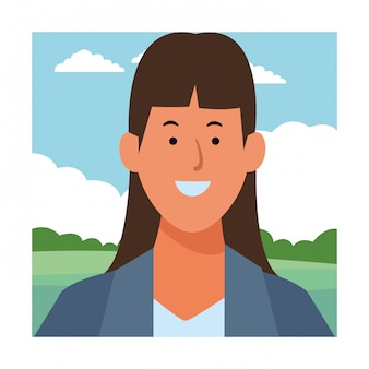 Geschäftsfrau-avatar-cartoon-figur