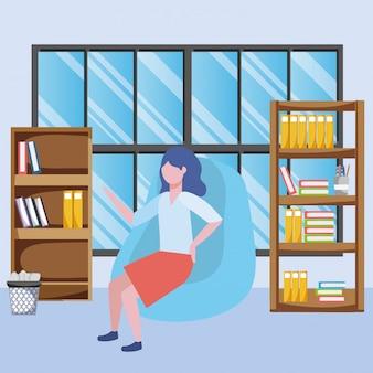 Geschäftsfrau avatar cartoon