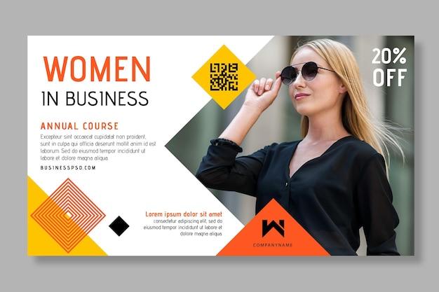 Geschäftsfrau banner vorlage