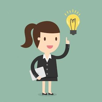 Geschäftsfrau, die eine idee