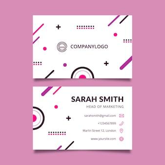 Geschäftsfrau doppelseitige visitenkarte