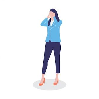 Geschäftsfrau exekutiv person charakter