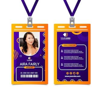Geschäftsfrau id-karte vorlage