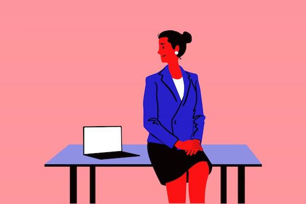 Geschäftsfrau im bürokonzept