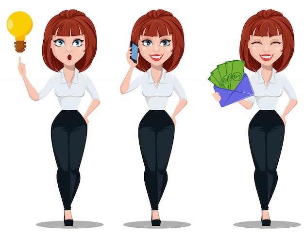 Geschäftsfrau in der büroartkleidung