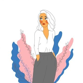 Geschäftsfrau in hosen