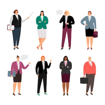 Geschäftsfrau in stilvollen kleidern