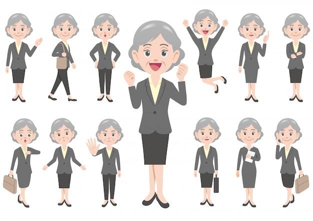 Geschäftsfrau in verschiedenen posen
