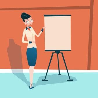 Geschäftsfrau mit flip-chart-seminar
