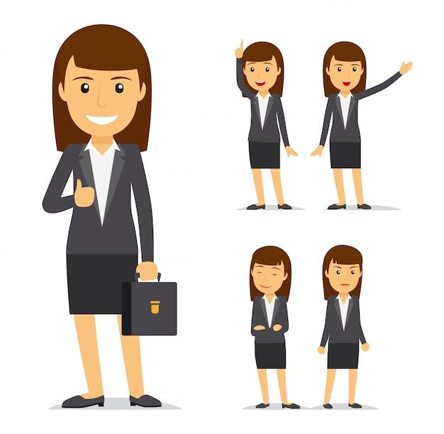 Geschäftsfrau vektor zeichentrickfigur