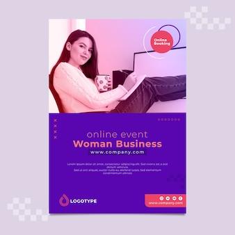 Geschäftsfrau vorlage poster seitenansicht frau