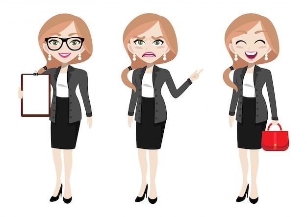 Geschäftsfrau zeichentrickfigur