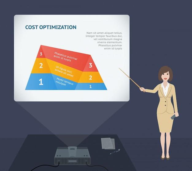 Geschäftsfraudarstellungsrede mit projektor
