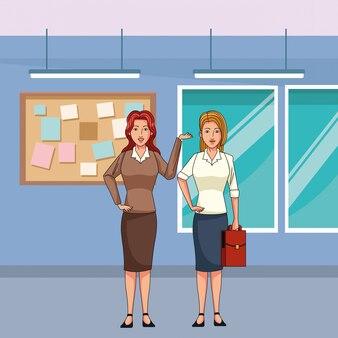 Geschäftsfrauen-avatar-cartoon-figur