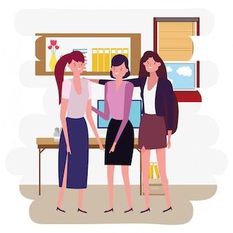 Geschäftsfrauen-avatar-cartoon