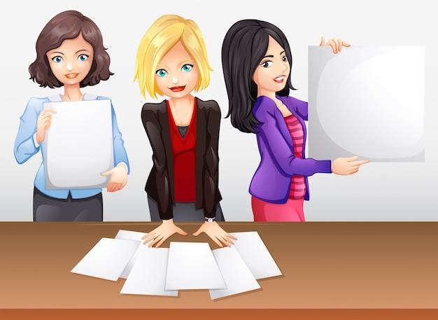 Geschäftsfrauen, die im team arbeiten