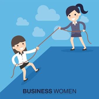 Geschäftsfrauhilfe andere geschäftsfrau