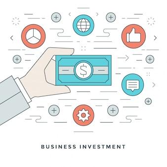 Geschäftsführung und investition und liniendesign.