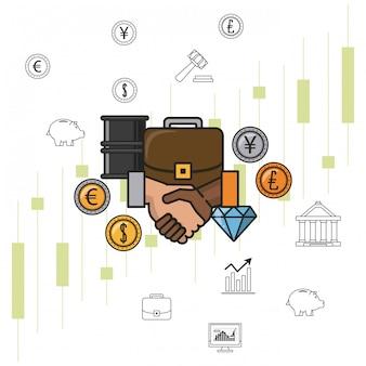 Geschäftsgeld und investitionen
