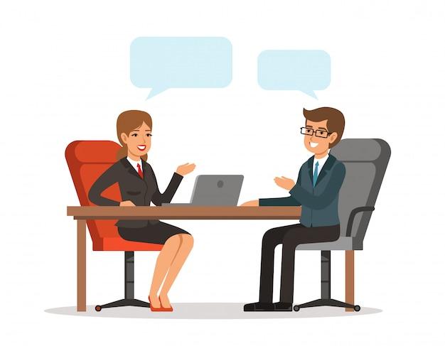 Geschäftsgespräch
