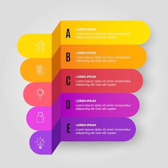 Geschäftsgradienten-infografik