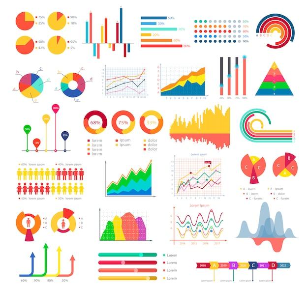 Geschäftsgrafiken und diagramme