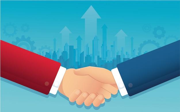 Geschäftshändedruck für erfolgreiche vereinbarung