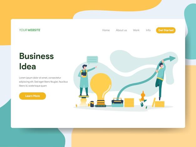 Geschäftsidee für website-seite