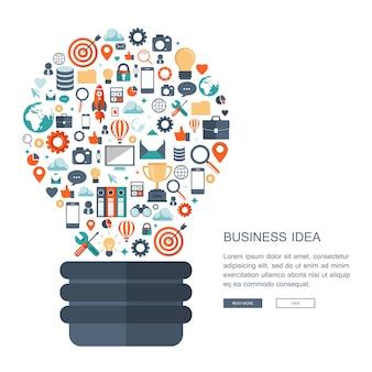 Geschäftsidee konzept Premium Vektoren