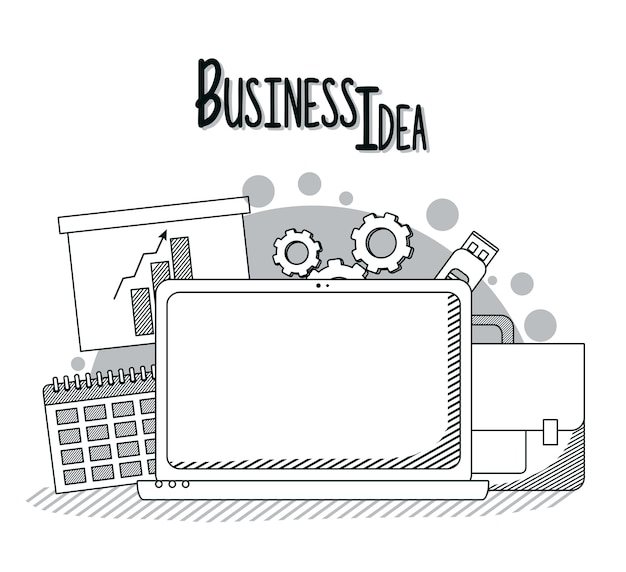Geschäftsidee konzept