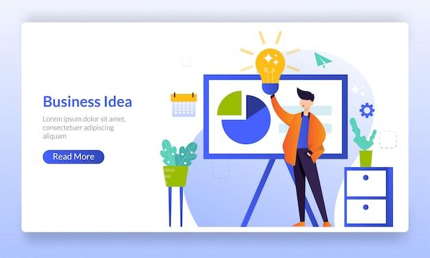 Geschäftsidee und brainstorming