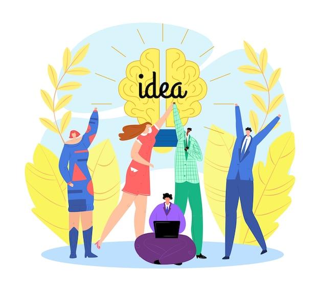 Geschäftsidee von team people brain