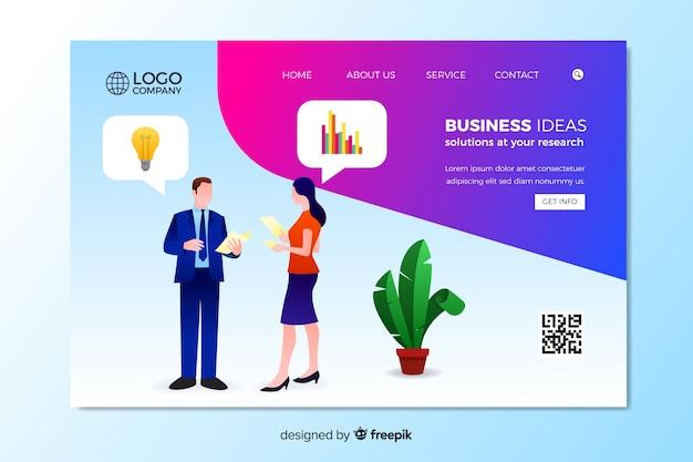 Geschäftsideen landing page vorlage