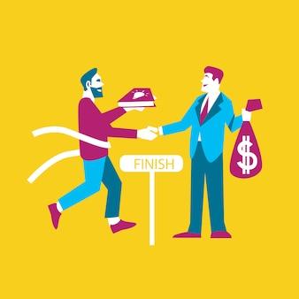 Geschäftsideen. tauschen sie ideen gegen geld aus