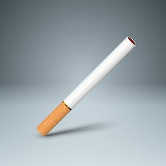 Geschäftsillustration einer zigarette und des schadens