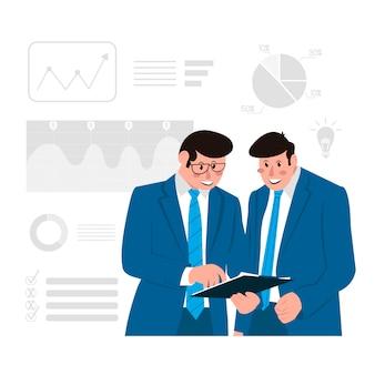Geschäftsillustrationskonzeptillustration