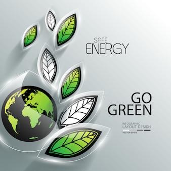 Geschäftsinfo grafik für die umwelt
