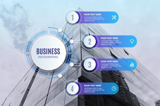 Geschäftsinfografik mit foto