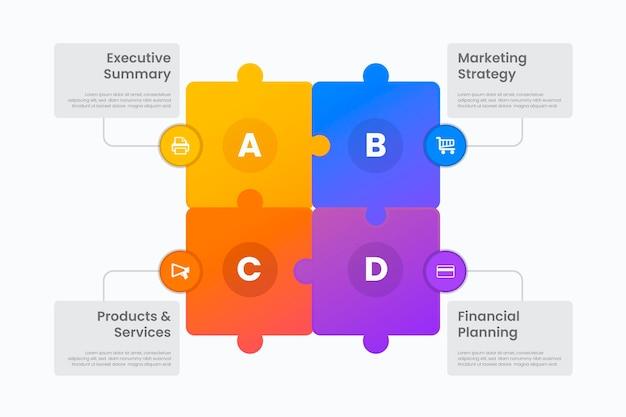 Geschäftsinfografiken im flachen design
