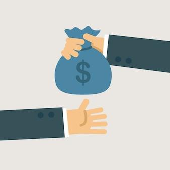 Geschäftsinvestitionsillustration. Premium Vektoren