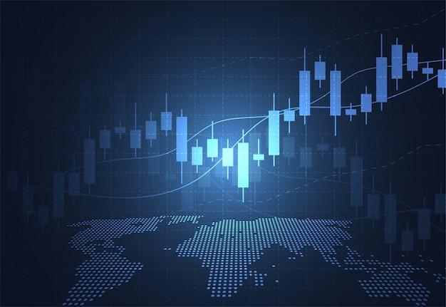 Geschäftskerzenstift-diagrammdiagramm des börseninvestitionshandels
