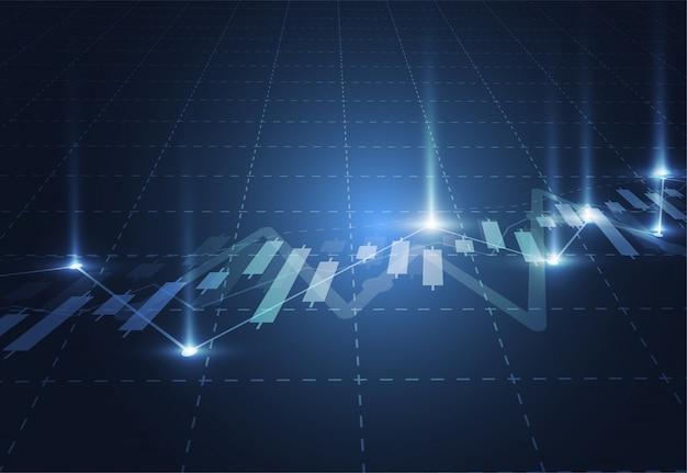 Geschäftskerzenstock-diagrammdiagramm der börse