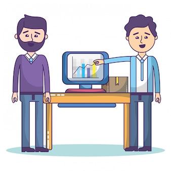 Geschäftskollegen cartoons