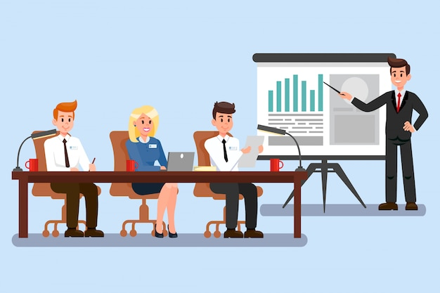Geschäftskonferenz-farbvektor-illustration